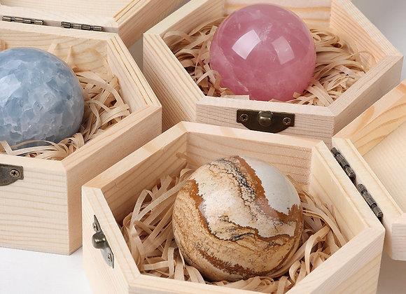 Natural Crystal Ball Stone Quartz Pink Crystal Healing Ball Sphere Feng Shui