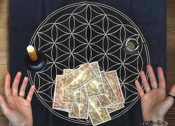 Flower Of Life Crystal Lattice Tarot Card Tablecloth Divination Oracle Card