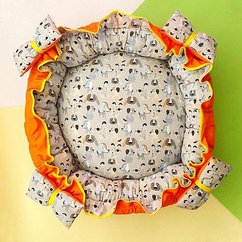 Cama Grey Puppies Laranja