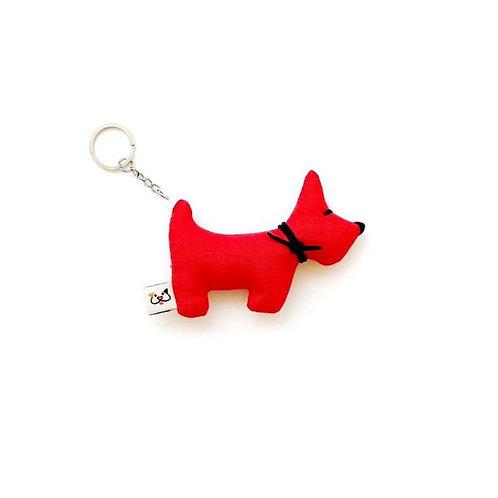 Porta-Chaves Cão Vermelho