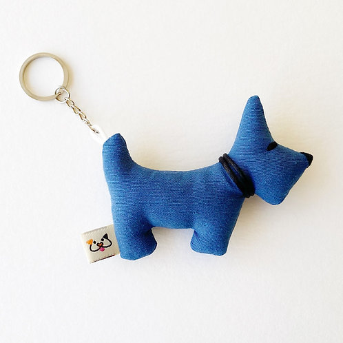 Porta-Chaves Cão Azul Escuro