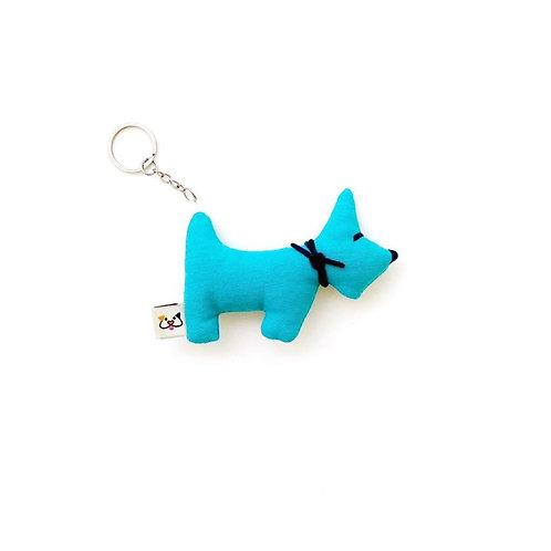 Porta-Chaves Cão Azul Claro