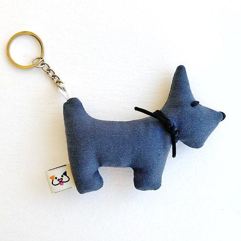 Porta-Chaves Cão Cinzento
