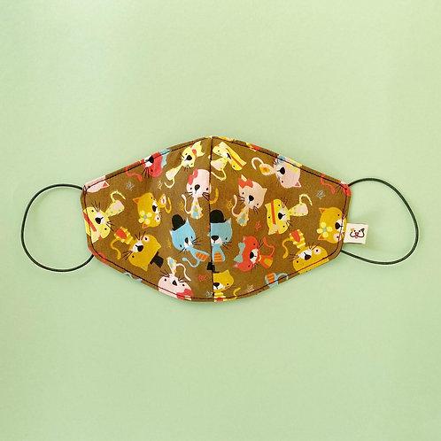 Máscara Social Gatinhos Castanhos