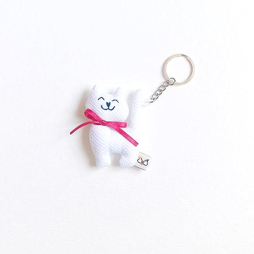 Porta-Chaves Gato Branco