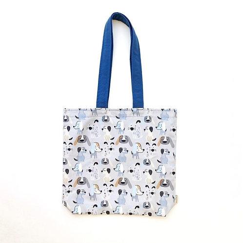 Gray Puppies Tote Bag