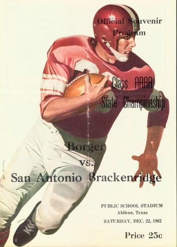 1962 4A State Championship Game Program