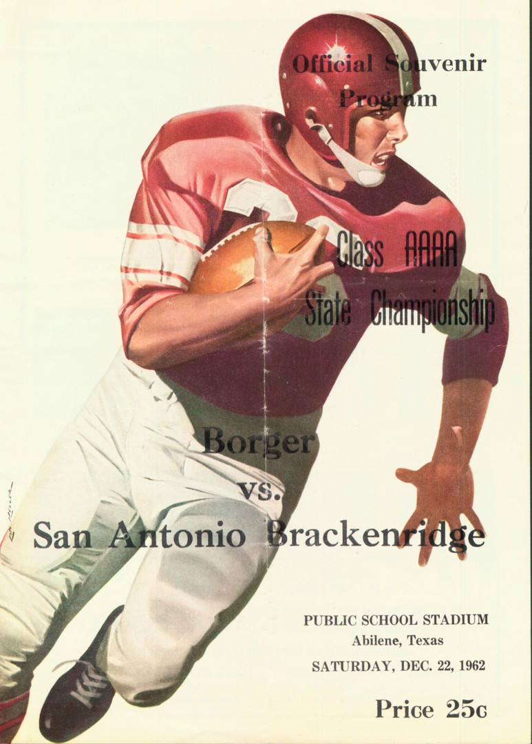 1962 4A State Championship Game Program