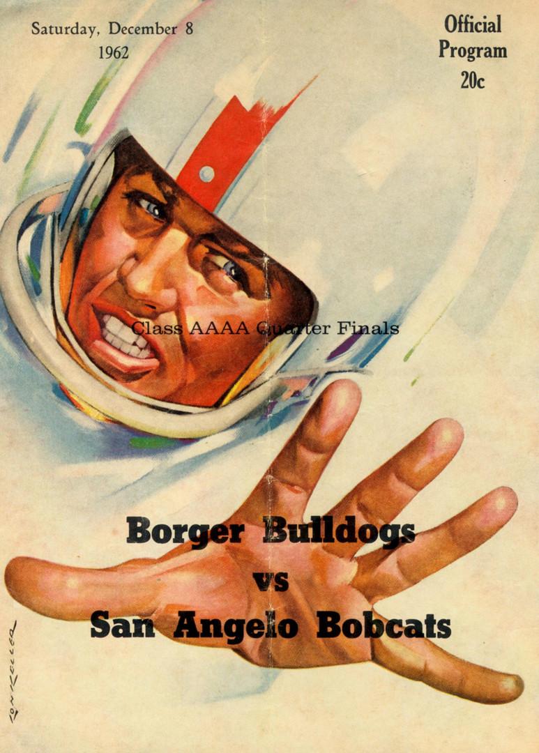 1962 Borger - San Angelo Playoff Program