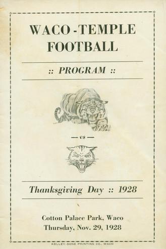 1928 Waco-Temple Program
