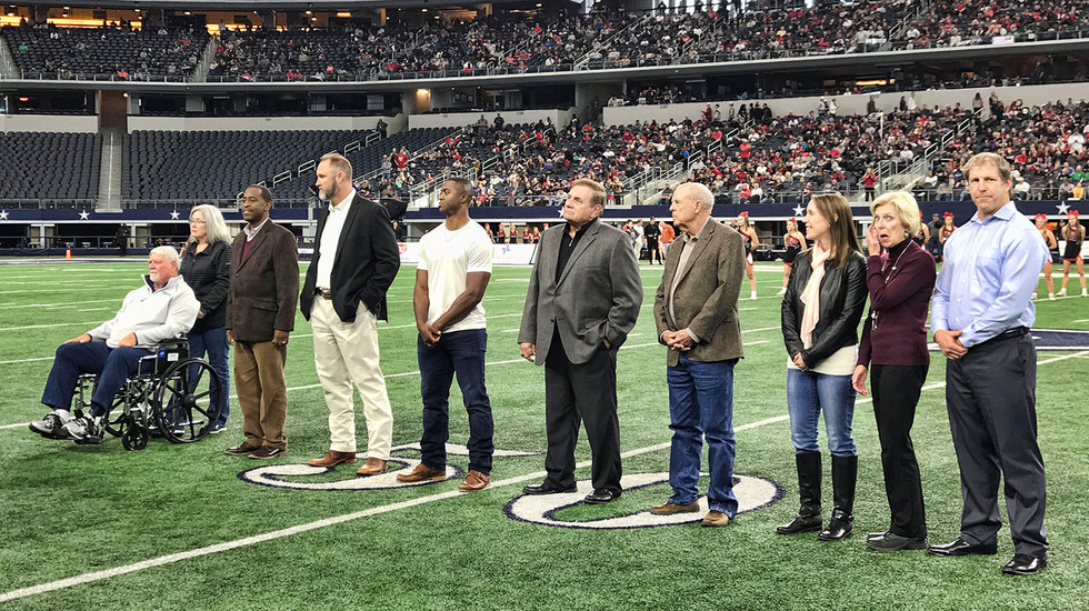 Class of 2018 introduction during state championship games at AT&T Stadium