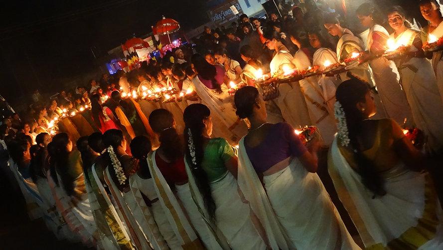 Tempelfest, Kerala, Indien