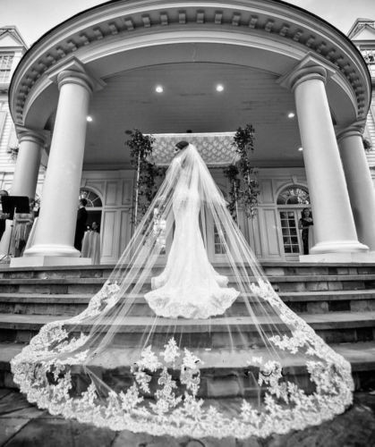 Cathedral-veil-chapel-aisle-wedding-bride-makeup-beauty-hairstyle-dress-accessory