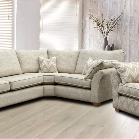 Savoy Curved Corner and Loveseat