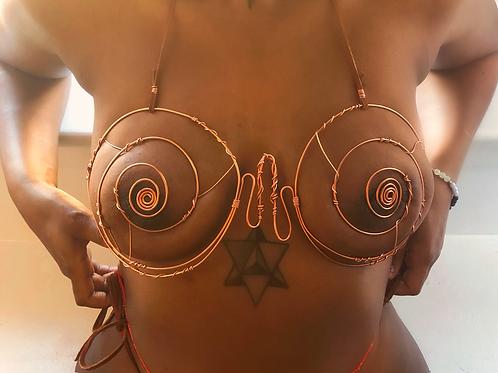 Spiral Copper Bra