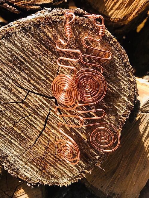 Coil copper earrings