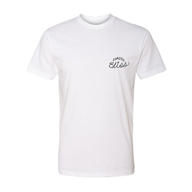 CHAOTIC BLISS TEE - WHITE/BLACK