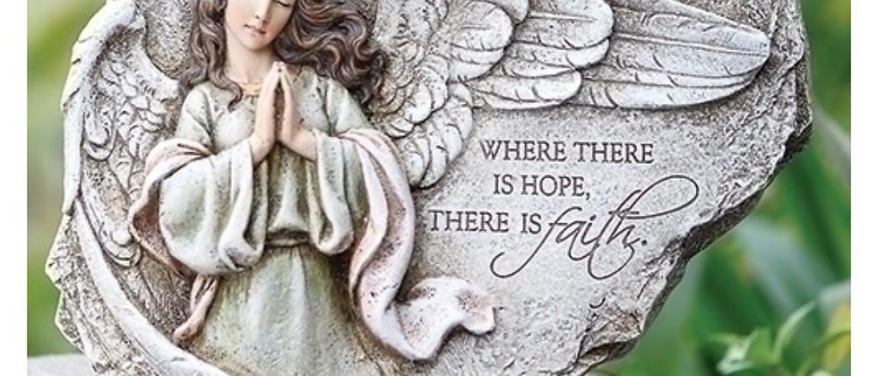 "8.25""H PRAYING ANGEL GARDEN STONE"