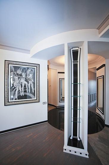 Интерьер квартиры в черно-белых тонах