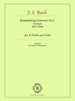 J. S. Bach/Brandenburg Concerto No.3 G major BWV1048 [Hard copy]