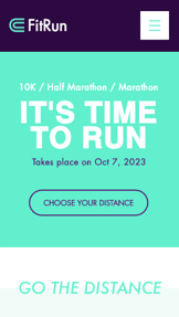Etkinlik website templates – Marathon Event