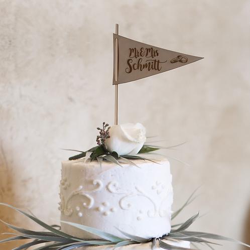 Cake Topper (Wimpel) für die Hochzeitstorte V1