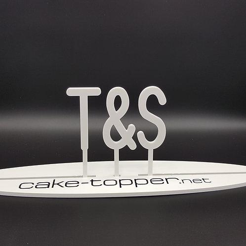 Cake Topper Initialen Schrift 23