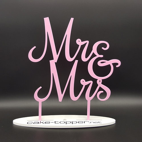 Cake Topper Mr&Mrs V7