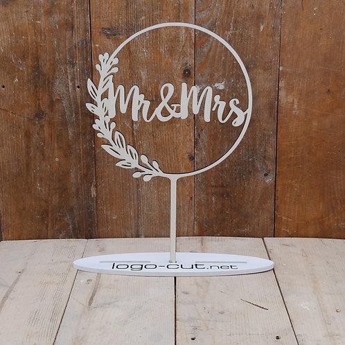 """Holz Cake Topper Hochzeit """"Mr&Mrs"""" V9"""