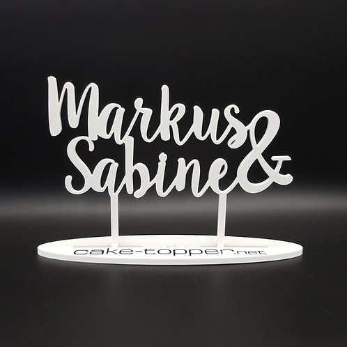 Cake Topper Hochzeit personalisiert V15