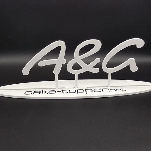 Cake Topper Initialen Schrift 21