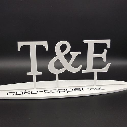 Cake Topper Initialen Schrift 27