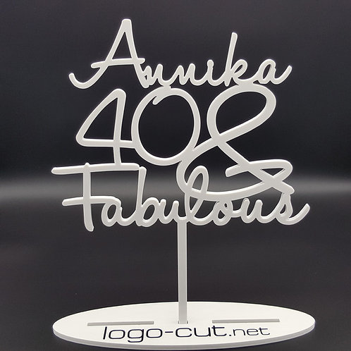 Cake Topper Geburtstag (Fabulous)
