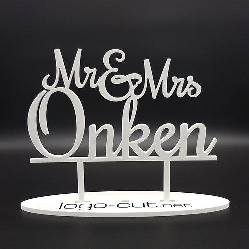 Cake Topper Hochzeit personalisiert V6