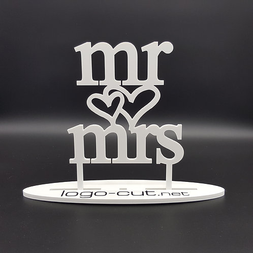 Cake Topper mr&mrs V3
