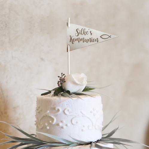Cake Topper (Wimpel) Kommunion V1