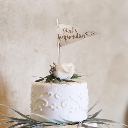 Cake Topper (Wimpel) Konfirmation V1