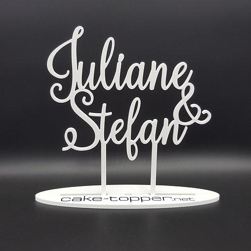 Cake Topper Hochzeit personalisiert V14