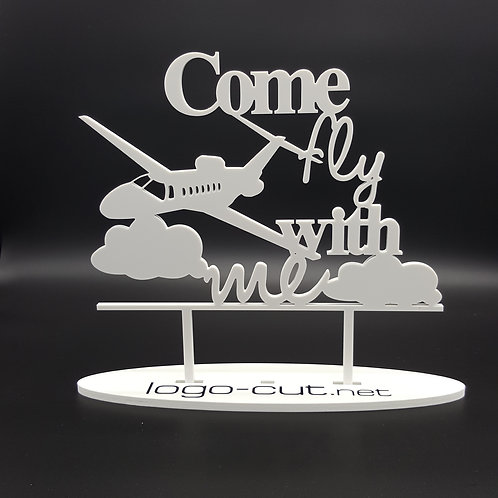 Cake Topper Come fly with me