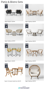 Patio & Bistro Sets for small spaces