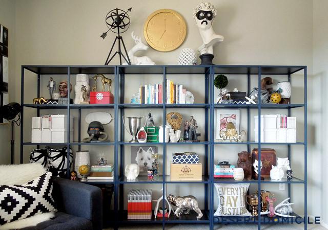 Shelf styling, shelf organization, storage solutions, tips for shelf storage solutions, iowa interior designer, staging 2 sell it services