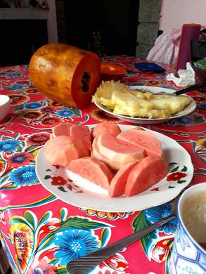 Ananas und Papaya