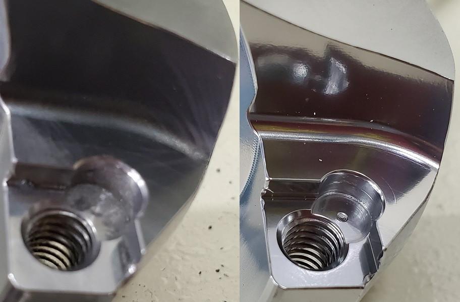 バフ研磨を鏡面ショットマシン仕上げに変更-㈱旭研磨工業所
