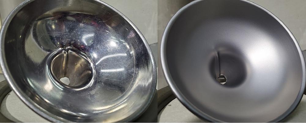 ビーズショットで滑り性を向上させることで、粉体付着抑止や清掃性向上・摺動性向上の効果を得られます。