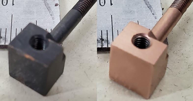 銅材の精密部品の不純物(酸化膜)除去(株)旭研磨工業所