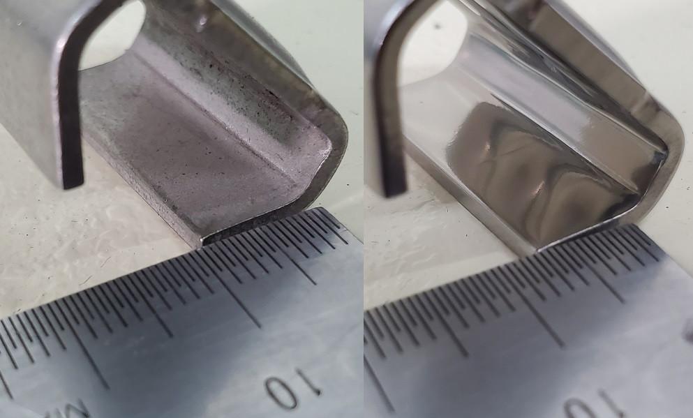 3次元異形状の工作機械部品の内面研磨