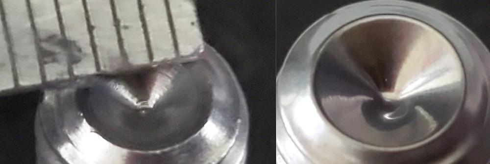 φ4.5mmテーパー微細部の鏡面ショット研磨