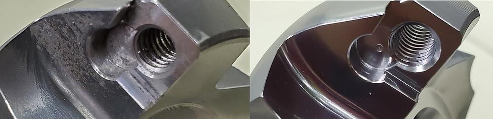三次元異形状の精密機械部品の鏡面研磨仕上げ