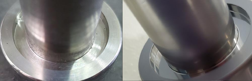 凸凹部、異形状、内径の磨き加工、面調整ができる