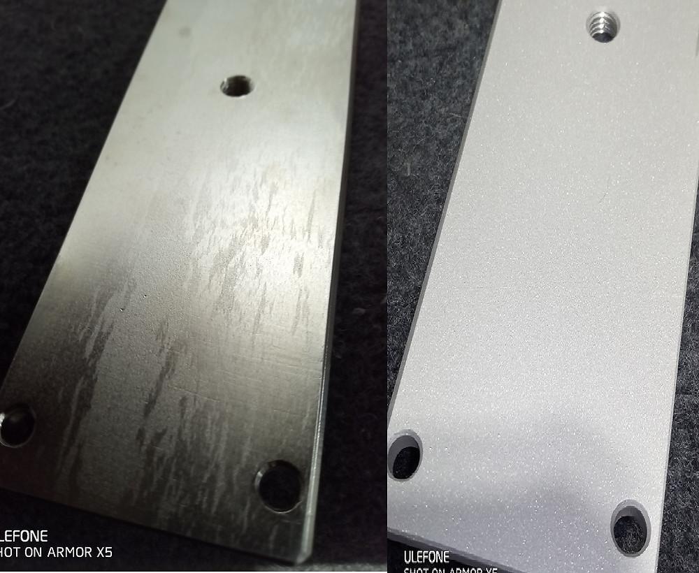 亜鉛メッキのブラストはくり処理